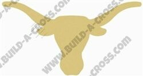 Longhorn Unfinished Cutout Paintable Wooden MDF build-a-cross