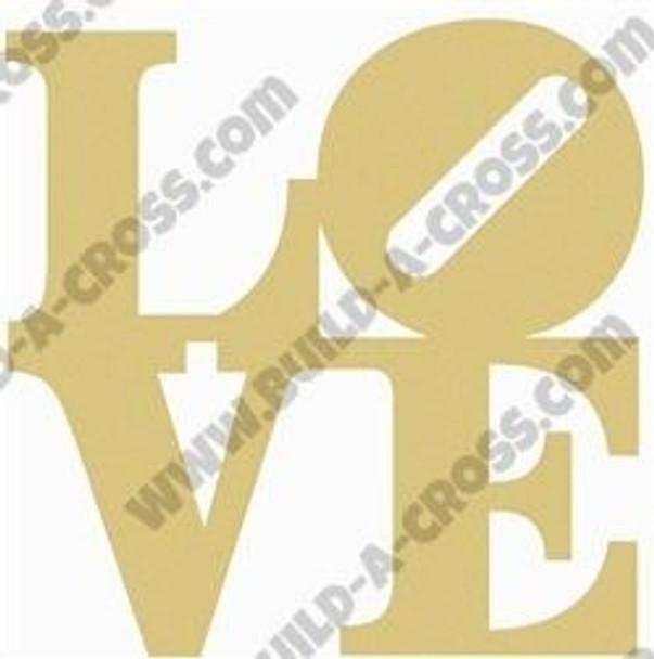 LOVE Shape Unfinished Cutout build-a-cross