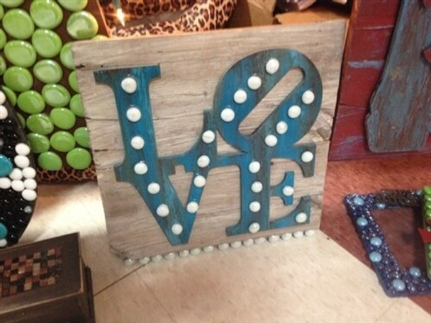 LOVE Shape Unfinished Cutout Paintable Wooden MDF