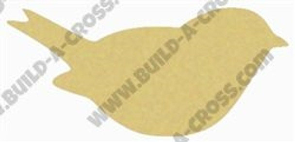 Love Bird Unfinished Cutout, Wooden Shape, Paintable Wooden MDF