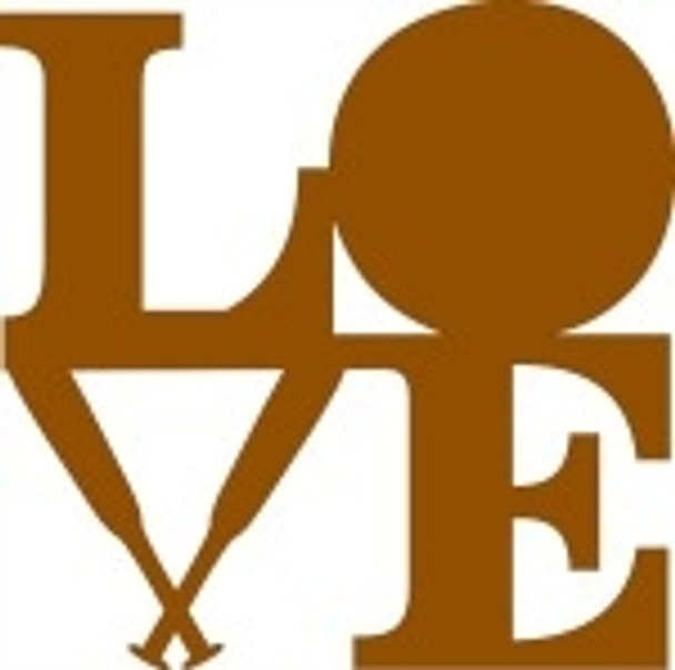 LOVE Shape BB Unfinished Cutout, Wooden Shape, Paintable Wooden MDF