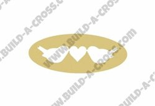 Love Birds Unfinished Cutout, Wooden Shape, Paintable Wooden MDF