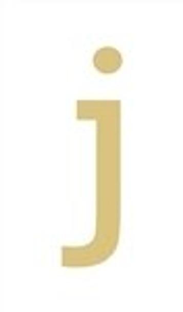 Unfinished Rockwell Wooden Letter-j