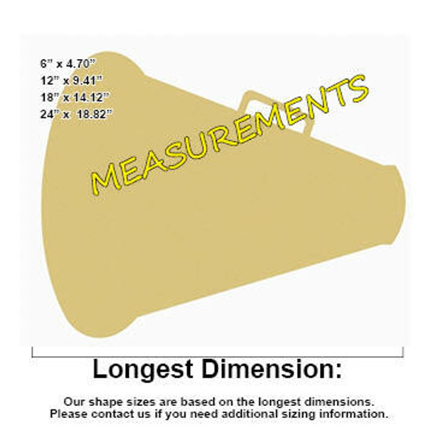 Mega Phone Unfinished Cutout measurements