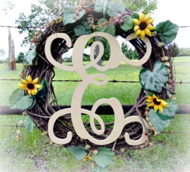 E-Monogram Letter Uppercase Wooden