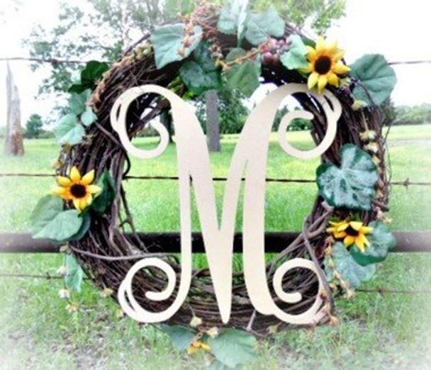 M-Monogram Letter Uppercase Wooden