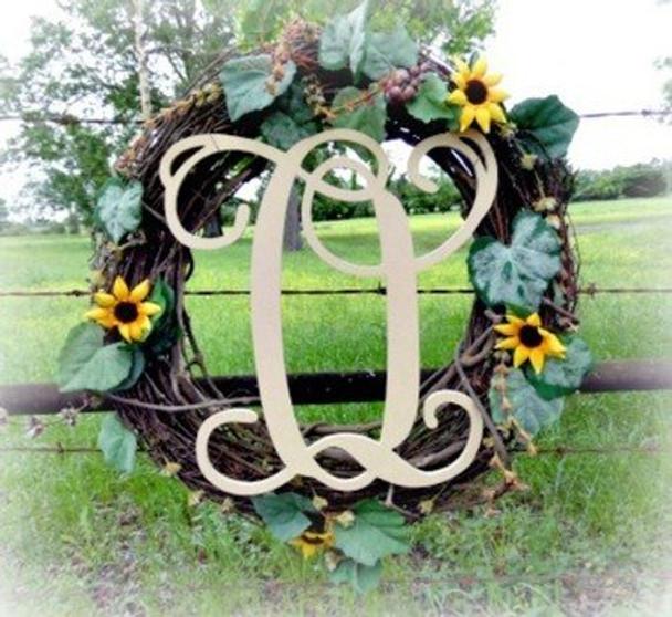 O-Monogram Letter Uppercase Wooden