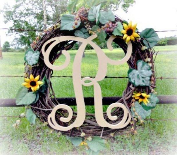 R-Monogram Letter Uppercase Wooden
