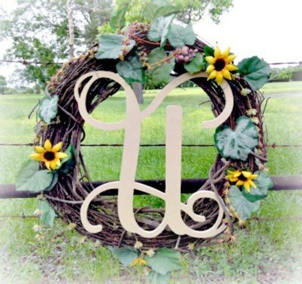 U-Monogram Letter Uppercase Wooden
