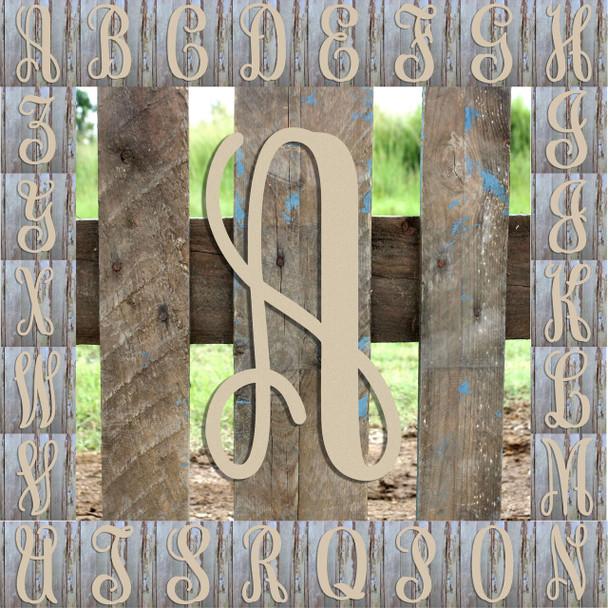 Monogram Lowercase Wooden Unfinished Alphabet Letter Craft