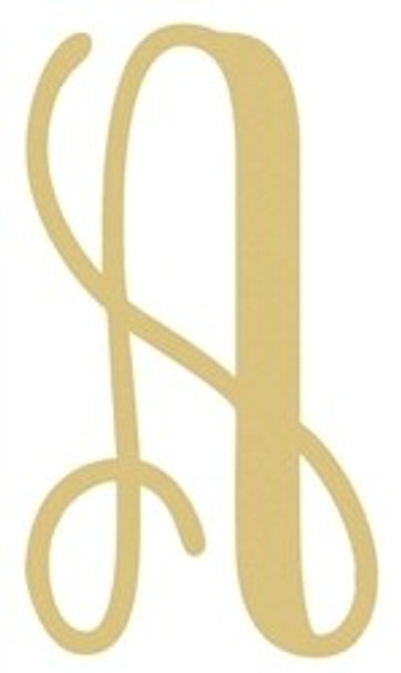 Monogram Lowercase Wooden Unfinished Alphabet Letter Craft-A