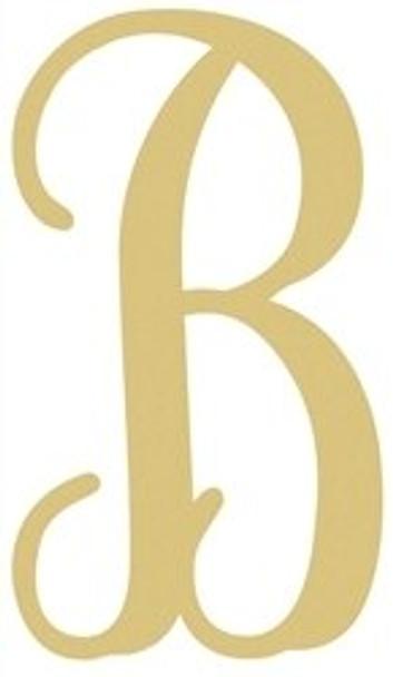 Monogram Lowercase Wooden Unfinished Alphabet Letter Craft-B