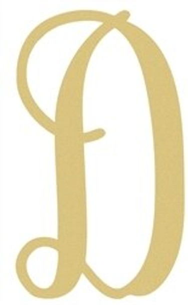 Monogram Lowercase Wooden Unfinished Alphabet Letter Craft-D
