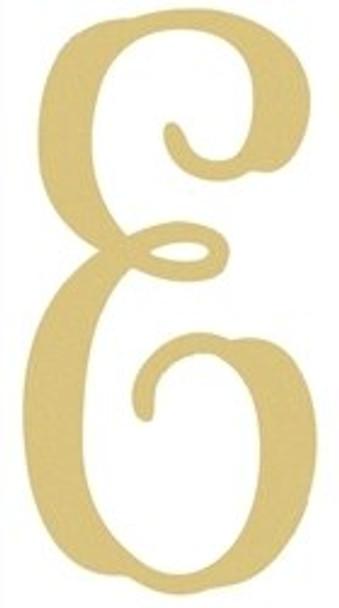 Monogram Lowercase Wooden Unfinished Alphabet Letter Craft-E