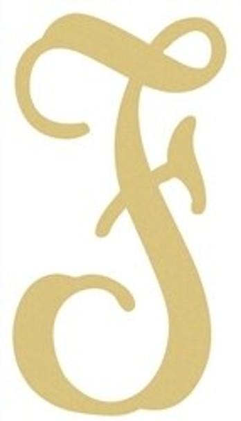 Monogram Lowercase Wooden Unfinished Alphabet Letter Craft-F
