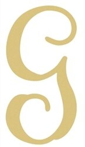 Monogram Lowercase Wooden Unfinished Alphabet Letter Craft-G