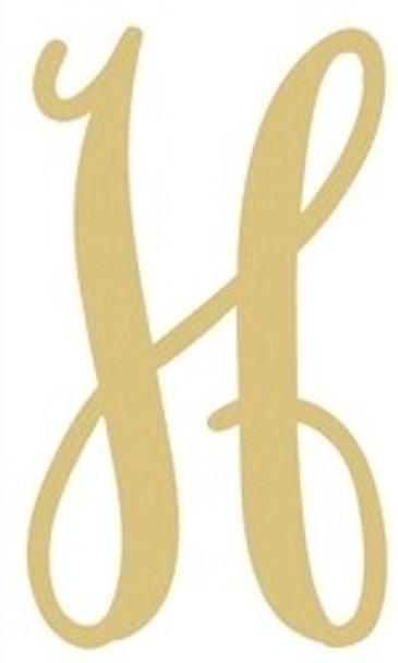 Monogram Lowercase Wooden Unfinished Alphabet Letter Craft-H