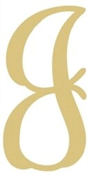 Monogram Lowercase Wooden Unfinished Alphabet Letter Craft-J