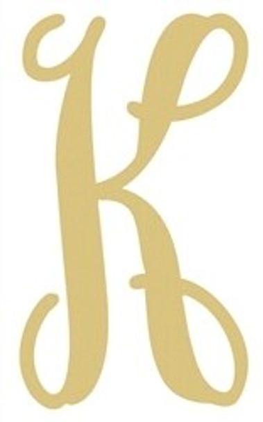 Monogram Lowercase Wooden Unfinished Alphabet Letter Craft-K