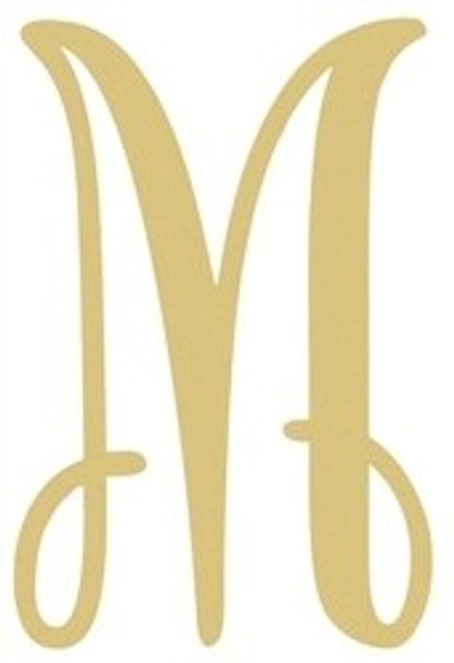 Monogram Lowercase Wooden Unfinished Alphabet Letter Craft-M