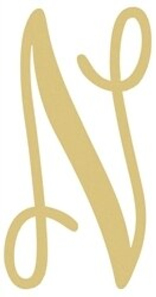 Monogram Lowercase Wooden Unfinished Alphabet Letter Craft-N