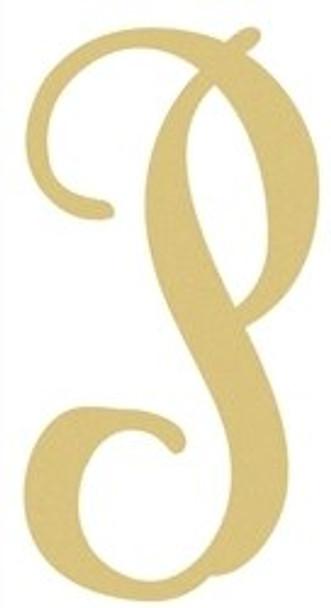 Monogram Lowercase Wooden Unfinished Alphabet Letter Craft-P