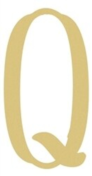 Monogram Lowercase Wooden Unfinished Alphabet Letter Craft-Q