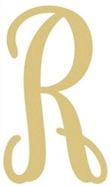 Monogram Lowercase Wooden Unfinished Alphabet Letter Craft-R