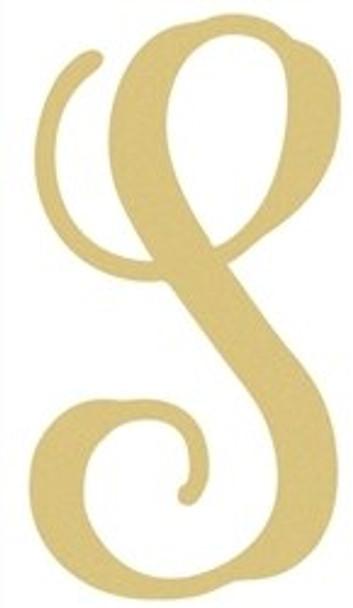 Monogram Lowercase Wooden Unfinished Alphabet Letter Craft-S