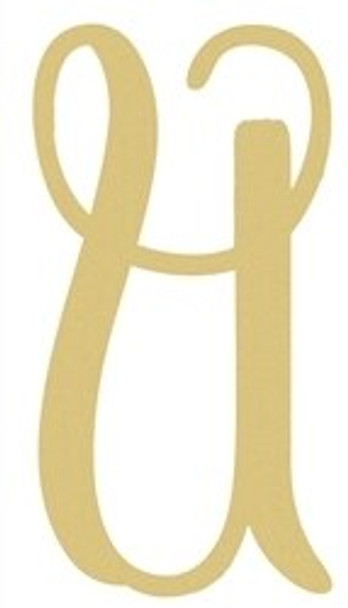 Monogram Lowercase Wooden Unfinished Alphabet Letter Craft-U