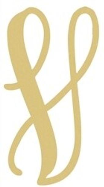 Monogram Lowercase Wooden Unfinished Alphabet Letter Craft-V