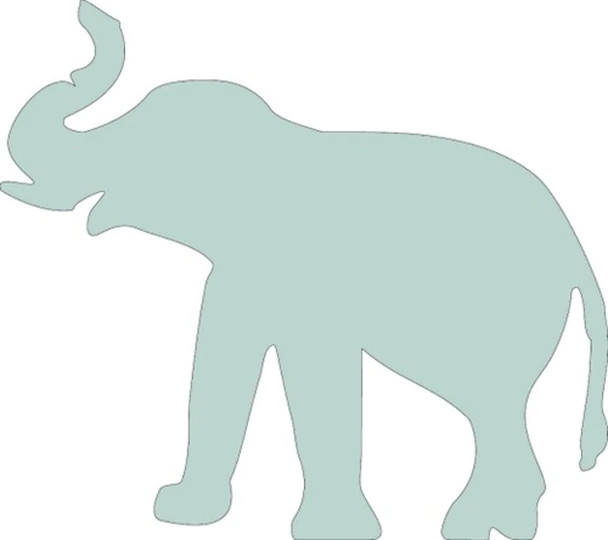 Elephant Unfinished Cutout, Paintable Wooden MDF