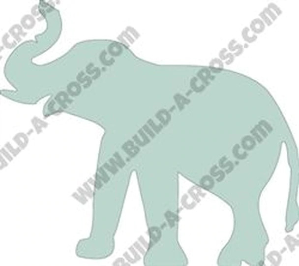 Elephant Unfinished Cutout, Paintable Wooden MDF-Build-a-cross