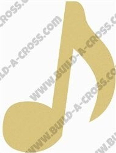 Music Note Eighth Note Unfinished Cutout build-a-cross
