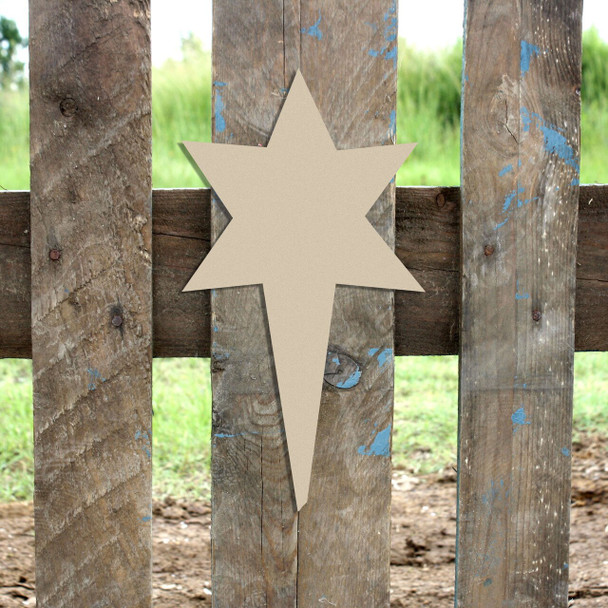 Nativity North Star Unfinished Cutout