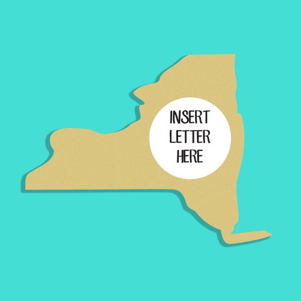 New York Frame Letter Insert Wooden Monogram Unfinished DIY Craft
