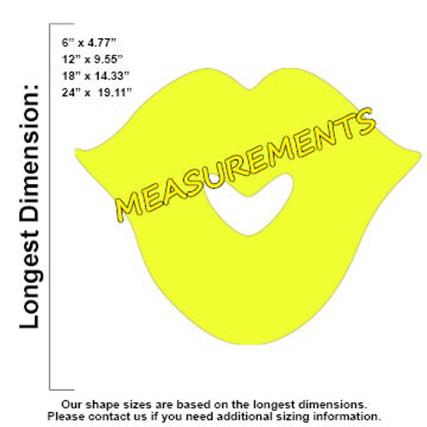 Kissing Lips2 Unfinished Cutout, Wooden Shape, Paintable Wooden MDF