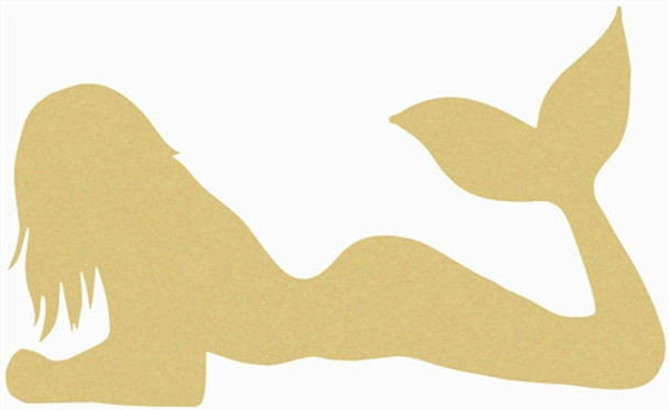 Mermaid Unfinished Cutout, Wooden Shape, Paintable Wooden MDF