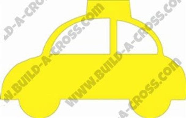 Taxi Unfinished Cutout, Wooden Shape, MDF DIY Craft