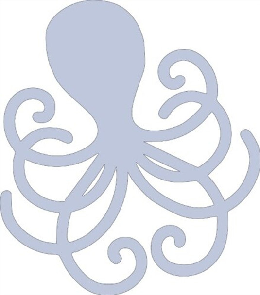 Summer octopus Unfinished Cutout Paintable MDF DIY