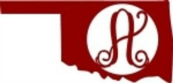 Oklahoma Frame Letter Monogram Wooden State Unfinished DIY Craft