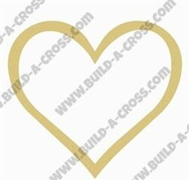 Open Heart Unfinished Cutout Paintable Wooden MDF build-a-cross