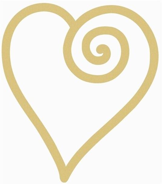 Open Swirl Heart Unfinished Cutout