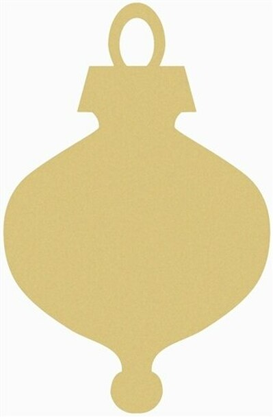 Christmas Ornament Unfinished Wooden Shape
