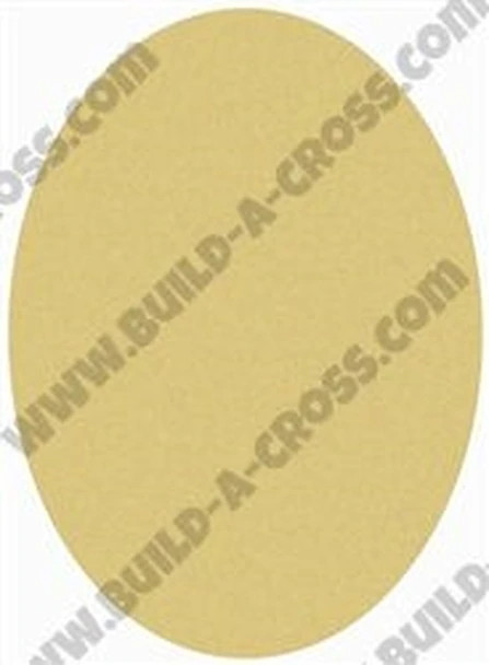 Oval Unfinished Cutout, Paintable Wooden MDF-Build-a-cross