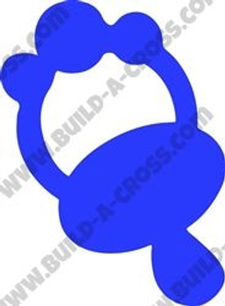 Pacifier Unfinished Cutout, Wooden Shape, Paintable Wooden MDF DIY