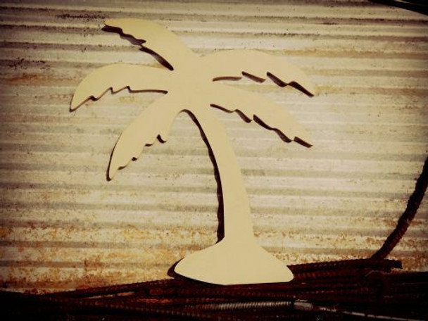 Palm Tree Unfinished Cutout Paintable Wooden MDF