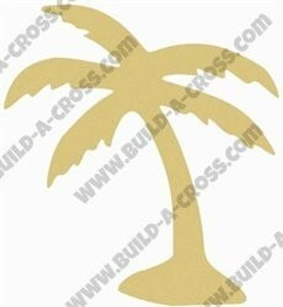 Palm Tree Unfinished Cutout Paintable MDF build-a-cross