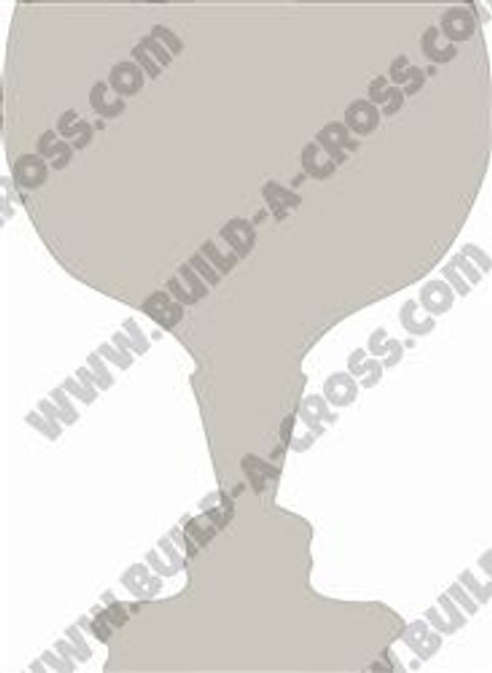 Fancy Cup Unfinished Cutout, Wooden Shape, Paintable Wooden MDF DIY