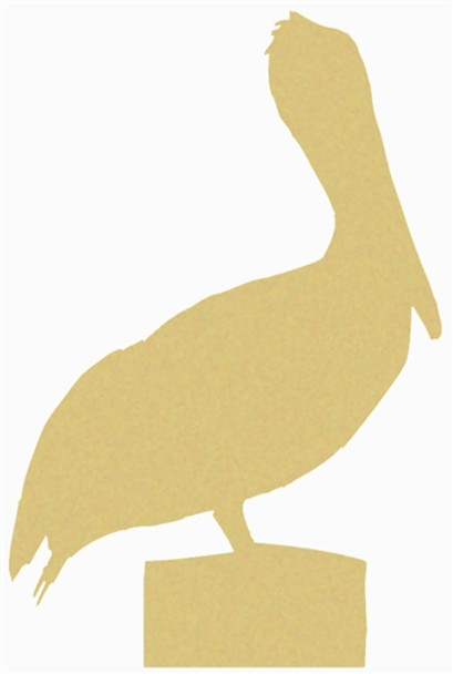 Pelican Unfinished Cutout, Wooden Shape, Paintable Wooden MDF